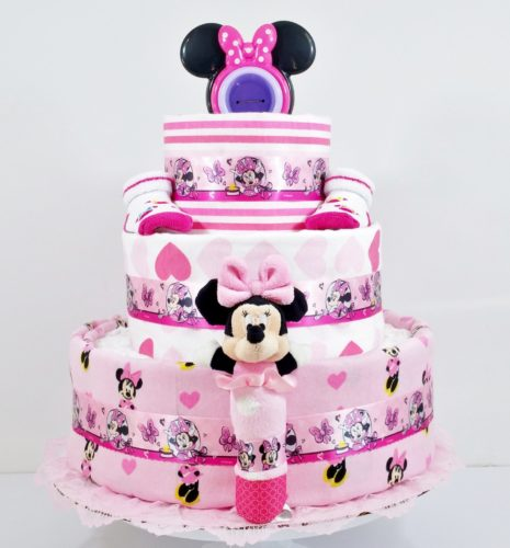 Beautiful Bows Minnie Mouse Baby Diaper Cake