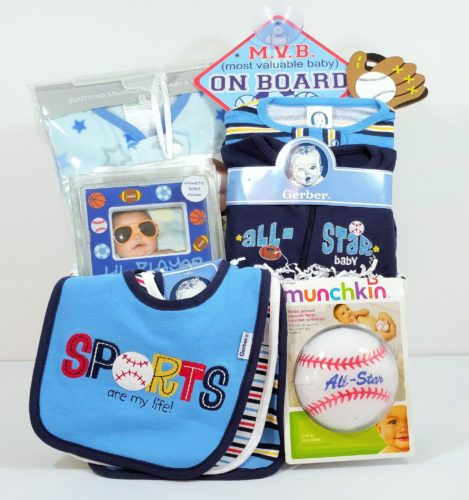 All Star Baseball Baby Gift Basket