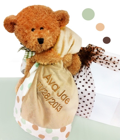 Little Brown Bear & Plush Blanket Baby Gift Set