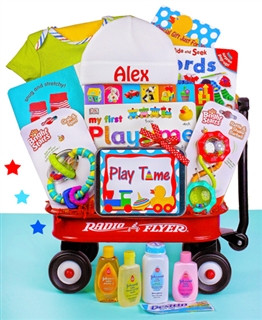 Playtime Fun With Baby Radio Flyer Wagon Gift Basket