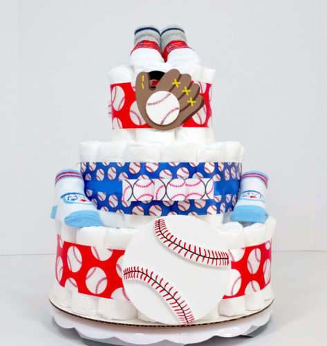 Daddy's Little MVP Baseball Diaper Cake