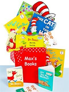 Dr. Seuss My Favorite Books Children's Gift Basket with Personalized Tote