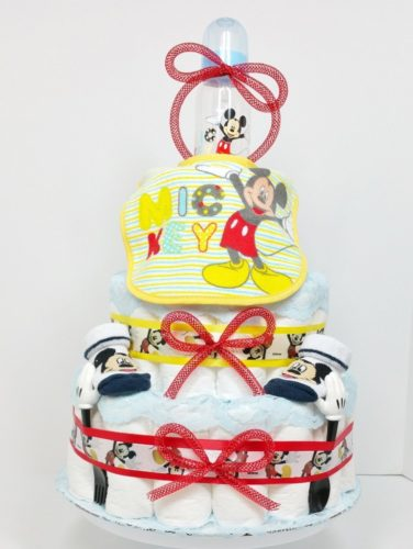 Feeding Fun With Mickey Mouse Baby Diaper Cake