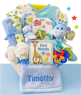 Little Safari Boy Baby Gift Basket