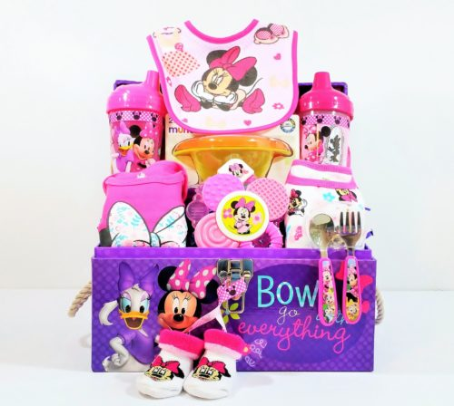 Minnie & Daisy - Bows Go With Everything! Baby Gift Basket
