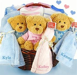 Triplets and Quadruplets Baby Gift Basket