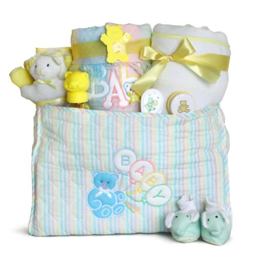 Deluxe Baby Diaper Tote Bag Gift Set - Gender Neutral