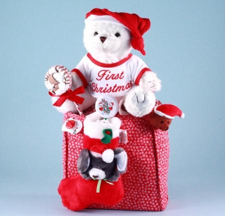Baby's First Christmas Bear & Tote Bag Holiday Gift Set