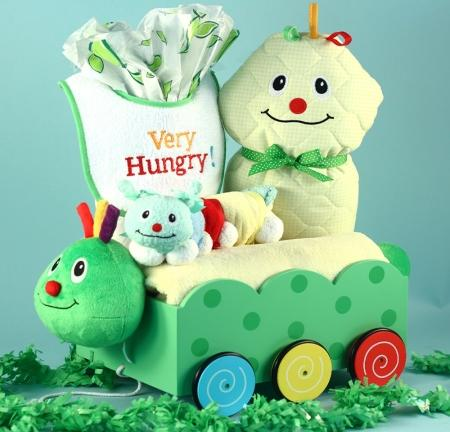 Cutest Caterpillar Welcome Wagon Gender Neutral Baby Gift Basket