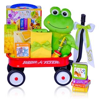 Baby Einstein Leap Into Reading Gender Neutral Baby Gift Basket Radio Flyer Wagon
