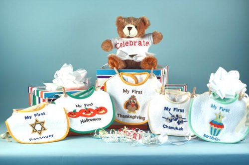 Baby's First Holiday Bibs & Bear Gift Set - Chanukah / Passover