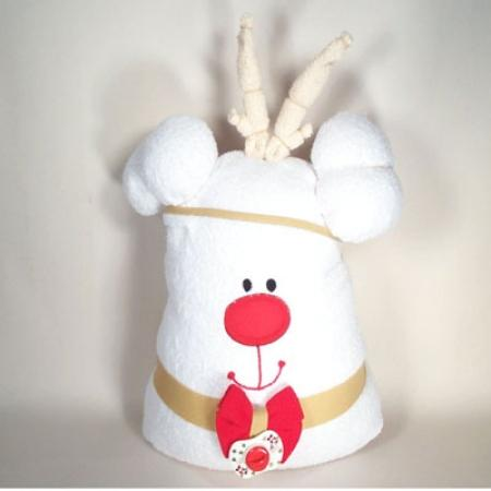 Reindeer Hooded Baby Bath Towel Christmas Gift Set - Gender Neutral