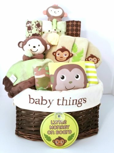 My Little Monkey Gender Neutral Baby Gift Basket