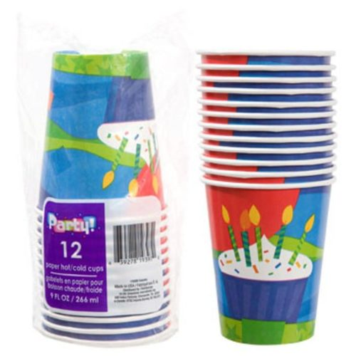Cupcake Happy Birthday Party Beverage Cups