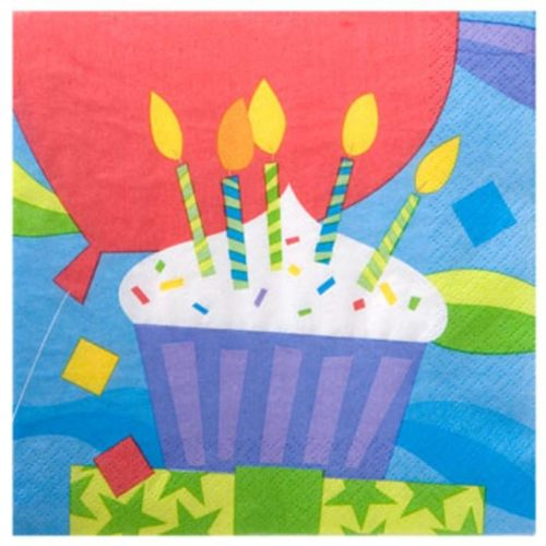 Cupcake Happy Birthday Party Lunch Napkins