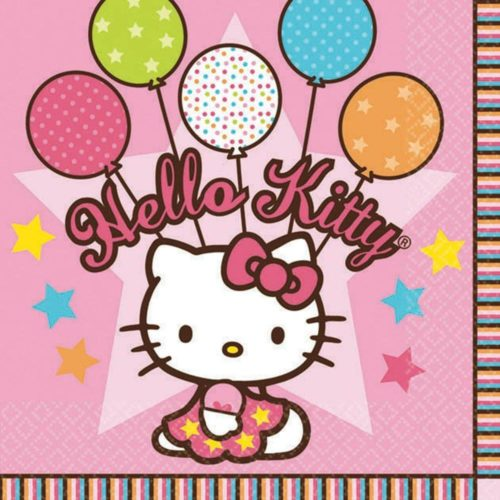 Hello Kitty Balloon Dreams Girl Birthday Party Luncheon Napkins