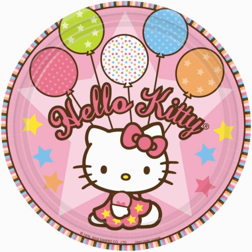Hello Kitty Balloon Dreams Girl Birthday Party Lunch Plates
