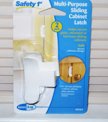Safety 1st Sliding Cabinet Baby Toddler Lock - 2 Pack