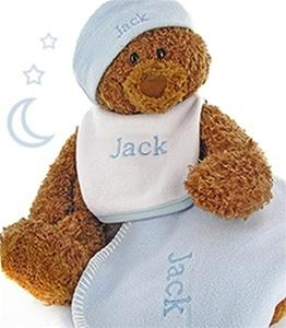 Gund Teddy Bear Cutie Collectible Baby Boy Gift Set