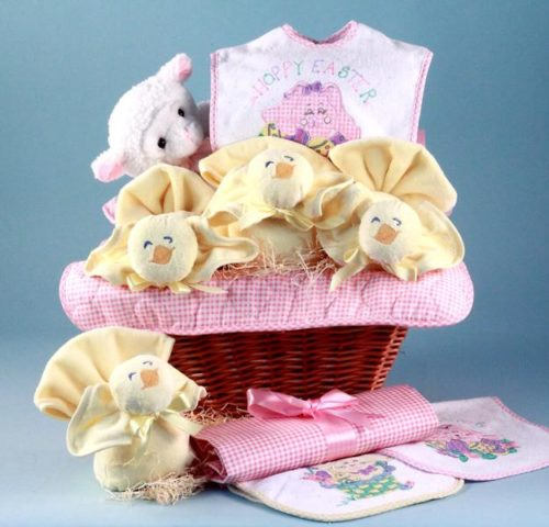Baby Girl's First Easter Holiday Gift Basket