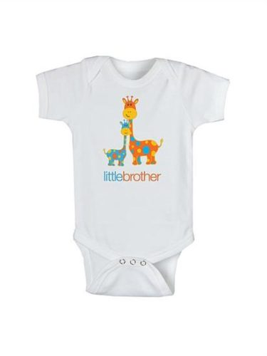 Baby Boy Little Brother Cotton Onesie Bodysuit Sibling Gift