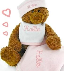 Gund Teddy Bear Cutie Collectible Baby Girl Gift Set