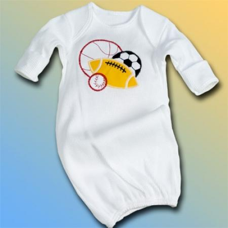 Sports Balls Baby Boy Sleep Gown