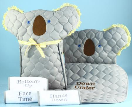 Koala Diaper Changing Pad With Tote Bag Gender Neutral Baby Gift Set