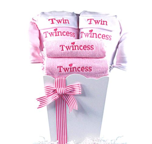 Princesses Twincesses Twins Baby Girl Gift Basket
