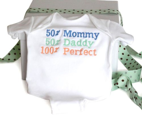 100% Perfect Baby Onesie Cotton Bodysuit - Gender Neutral
