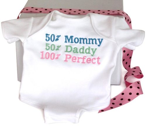 100% Perfect Baby Onesie Cotton Bodysuit - Baby Girl