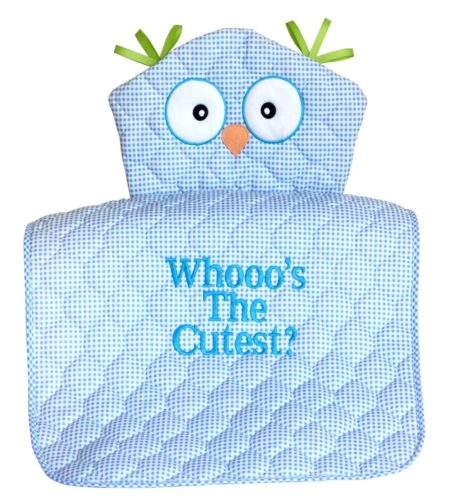 Whooo's The Cutest Owl Diaper Changing Pad Baby Boy Gift - BLUE