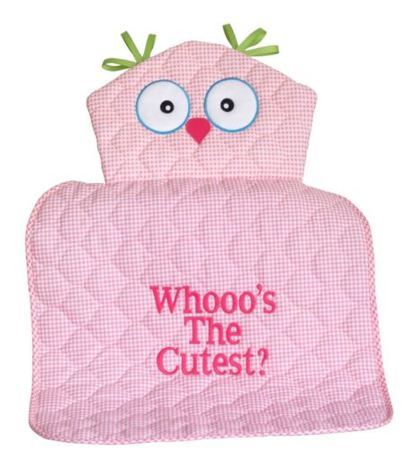 Whooo's The Cutest Owl Diaper Changing Pad Baby Girl Gift - PINK
