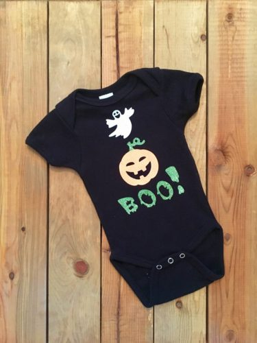 Halloween Boo Gender Neutral Cotton Baby Onesie Bodysuit