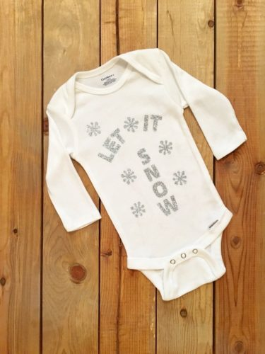 Let It Snow Gender Neutral Cotton Baby Onesie Bodysuit Outfit