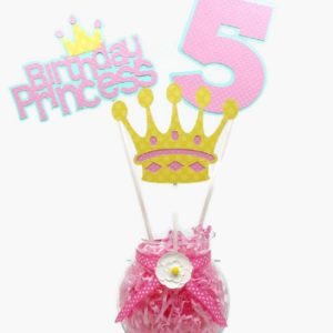 Girl Princess Birthday Centerpiece Sticks Cake Toppers Personalized