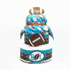 Baby Boy Football Diaper Cake With Blanket