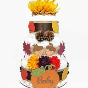 Yellow Fall Diaper Cake