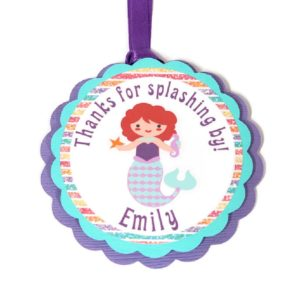Mermaid Birthday Favor Tags