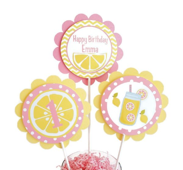 Lemonade Centerpiece Sticks
