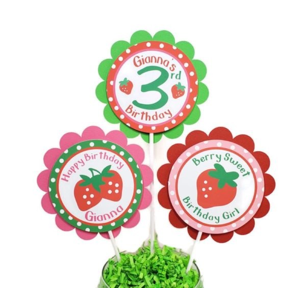 strawberry Centerpiece sticks