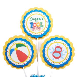 pool party centerpiece sticks
