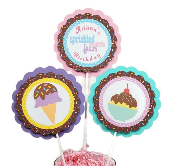 Ice Cream Centerpiece Sticks