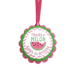 watermelon favor tag