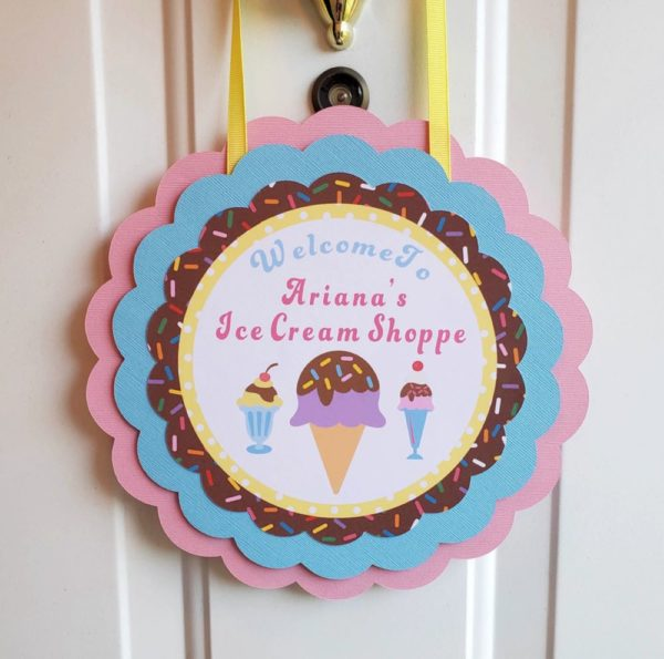 ice cream door sign