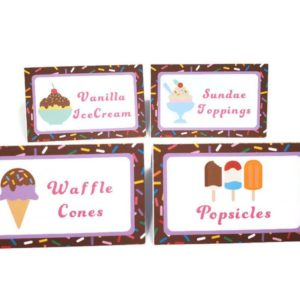 ice cream tent cards
