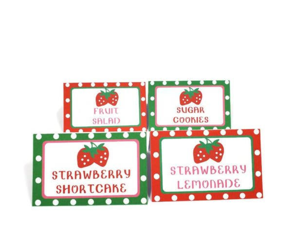 Strawberry foot tent cards
