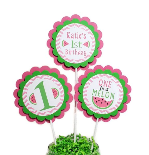 watermelon centerpiece sticks