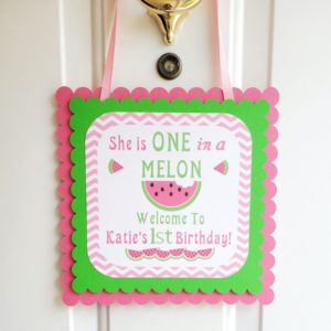 watermelon door sign