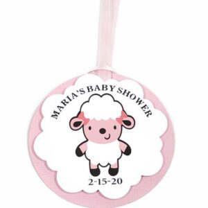 sheep baby shower favor tag